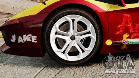 Lamborghini Aventador LP700-4 2012 [EPM] Jake pour GTA 4 Vue arrière