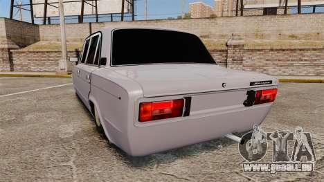 VAZ-2106 Zhiguli BUNKER pour GTA 4 Vue arrière de la gauche
