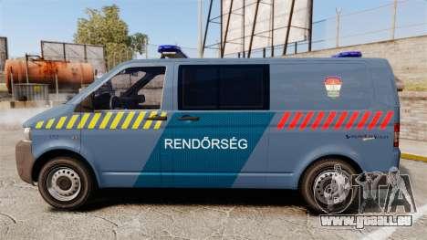 Volkswagen Transporter T5 Hungarian Police [ELS] pour GTA 4 est une gauche