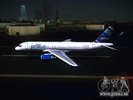 Airbus A320 JetBlue pour GTA San Andreas laissé vue