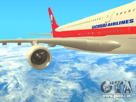 Airbus  A380-800 Sichuan Airlines pour GTA San Andreas vue de droite
