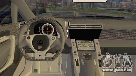 Lexus LFA Street Edition Djarum Black für GTA San Andreas Rückansicht