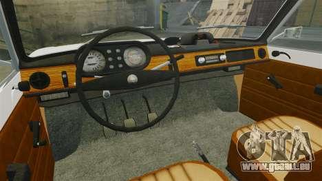 Wartburg 353w Deluxe Hungarian Police pour GTA 4 est une vue de l'intérieur