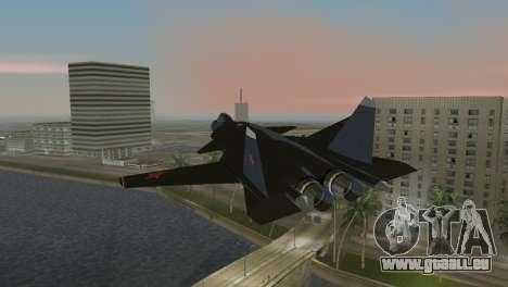 Su-47 Berkut für GTA Vice City linke Ansicht