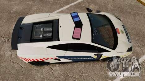 Lamborghini Gallardo Hungarian Police [ELS] für GTA 4 rechte Ansicht