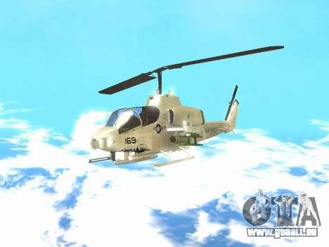 AH-1W Super Cobra pour GTA San Andreas laissé vue