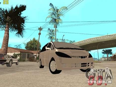 Toyota Estima KZ Edition 4wd pour GTA San Andreas vue de côté