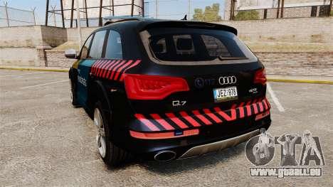 Audi Q7 Hungarian Police [ELS] pour GTA 4 Vue arrière de la gauche