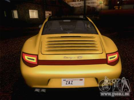 Porsche 911 Targa 4S für GTA San Andreas obere Ansicht