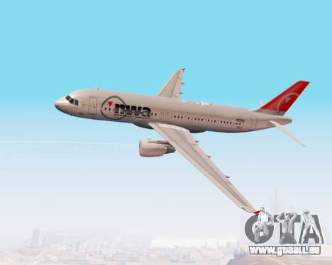 Airbus A320 NWA pour GTA San Andreas vue de côté