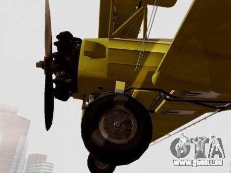 Grumman G-164 AgCat pour GTA San Andreas vue arrière