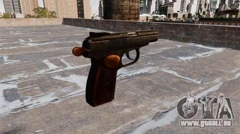Die Makarov-Pistole für GTA 4 Sekunden Bildschirm