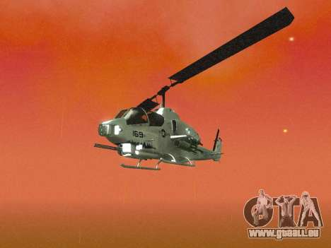 AH-1W Super Cobra pour GTA San Andreas vue de dessus