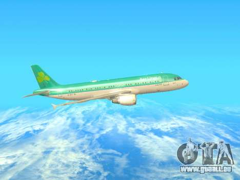 Airbus A320-200 Aer Lingus pour GTA San Andreas sur la vue arrière gauche
