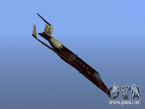 Bombardier Learjet 45 für GTA San Andreas Seitenansicht