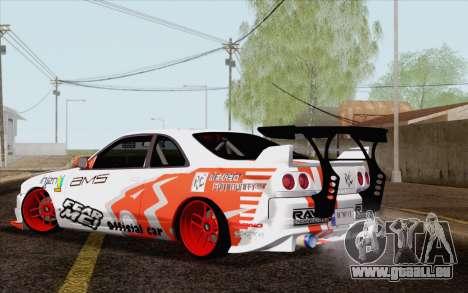 Nissan Skyline GT-R32 für GTA San Andreas linke Ansicht
