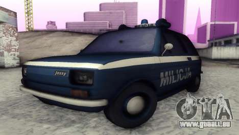 Fiat 126p milicja für GTA San Andreas linke Ansicht