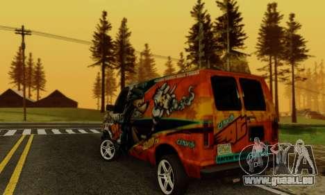 Ford E-150 GT-Shop pour GTA San Andreas sur la vue arrière gauche