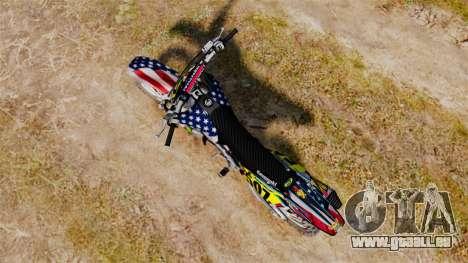Kawasaki KX250F Monster KX USA für GTA 4 hinten links Ansicht