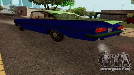 Chevrolet Bel Air De 1959 pour GTA San Andreas laissé vue