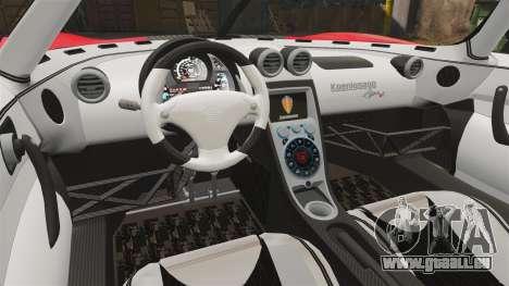 Koenigsegg Agera R [EPM] NFS pour GTA 4 est une vue de l'intérieur