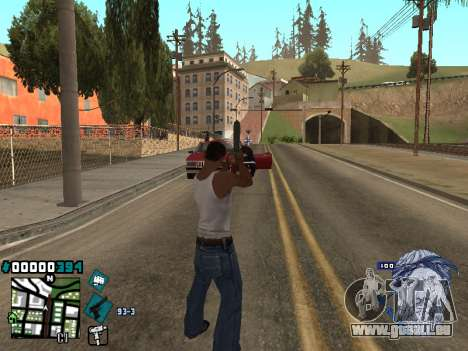 C-HUD Rifa in Ghetto für GTA San Andreas zweiten Screenshot