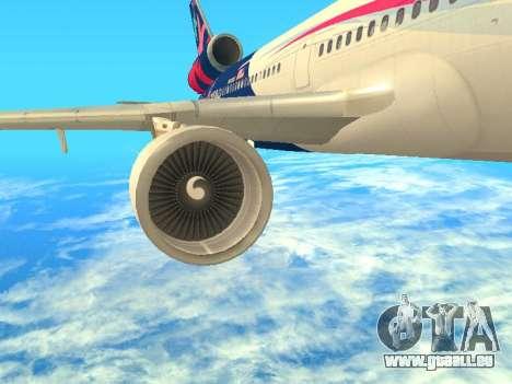 McDonnell Douglas MD-11 Delta Airlines für GTA San Andreas zurück linke Ansicht