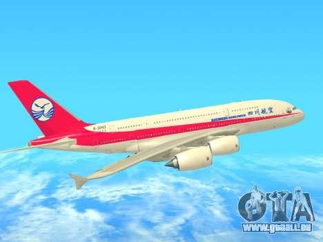 Airbus  A380-800 Sichuan Airlines für GTA San Andreas Innenansicht