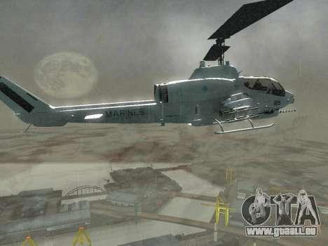 AH-1W Super Cobra für GTA San Andreas Seitenansicht