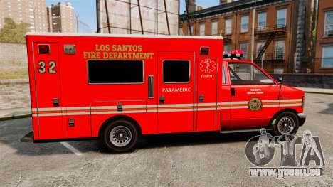 Brute LSFD Paramedic pour GTA 4 est une gauche