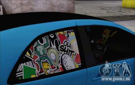 Toyota Yaris Hellaflush Young Child für GTA San Andreas rechten Ansicht