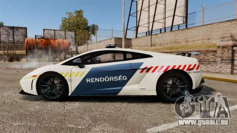 Lamborghini Gallardo Hungarian Police [ELS] für GTA 4 linke Ansicht