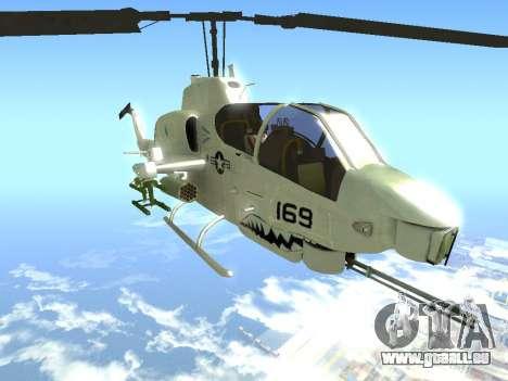 AH-1W Super Cobra pour GTA San Andreas vue de droite