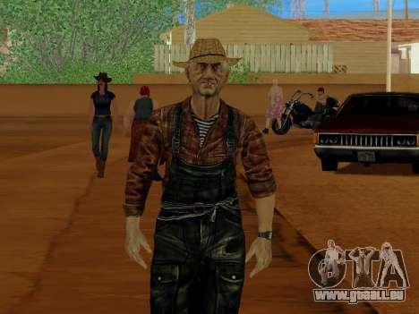 Agriculteur ou modifiée et complétée pour GTA San Andreas cinquième écran