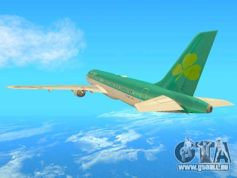 Airbus A320-200 Aer Lingus pour GTA San Andreas vue arrière