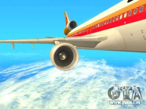 McDonnell Douglas MD-11 Continental Airlines für GTA San Andreas rechten Ansicht