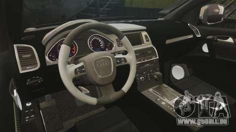 Audi Q7 Hungarian Police [ELS] pour GTA 4 est une vue de l'intérieur