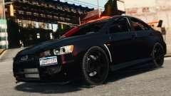 Mitsubishi Lancer Evolution X 2008 Black Edition pour GTA 4