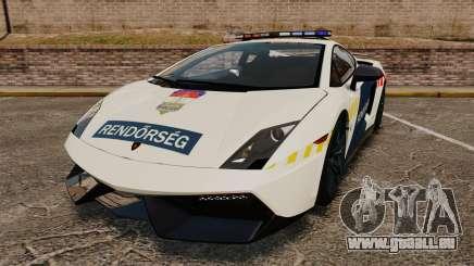 Lamborghini Gallardo Hungarian Police [ELS] pour GTA 4