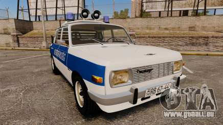 Wartburg 353w Deluxe Hungarian Police pour GTA 4