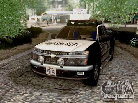 Chevrolet Colorado Sheriff pour GTA San Andreas vue de côté