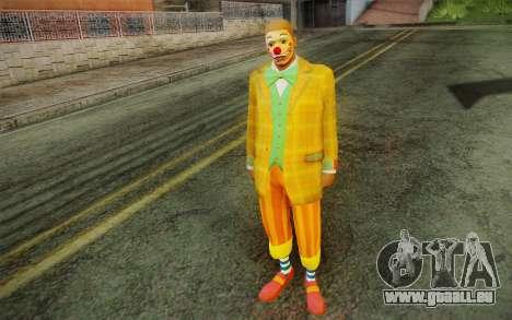 Le clown de GTA 5 pour GTA San Andreas deuxième écran