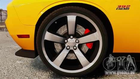 Dodge Challenger SRT8 2012 für GTA 4 Rückansicht
