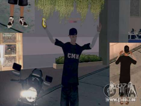 La peau travailleurs des médias pour GTA San Andreas quatrième écran