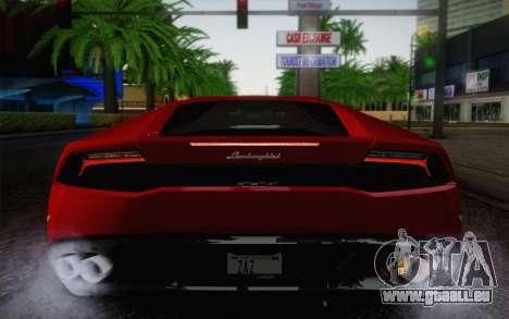 Lamborghini Huracan 2013 pour GTA San Andreas vue de dessous