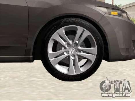 Honda Accord 2009 pour GTA San Andreas vue de dessus
