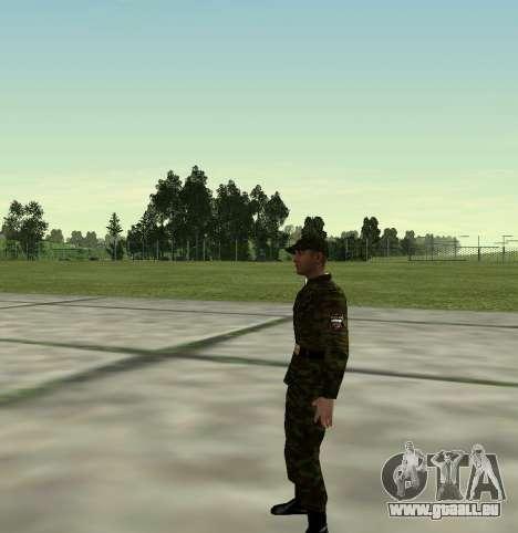 Combattant de l'Armée russe v 2.0 pour GTA San Andreas deuxième écran