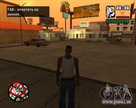Symbole radar der mobile-version des Spiels für GTA San Andreas dritten Screenshot