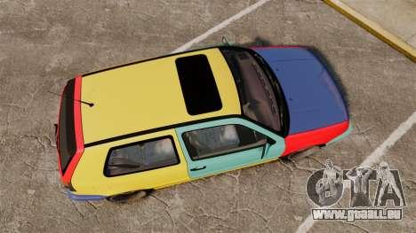 Volkswagen Golf MK3 Harlequin pour GTA 4 est un droit