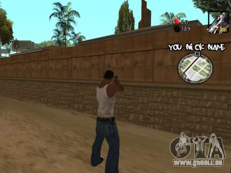 C-HUD by San4os pour GTA San Andreas